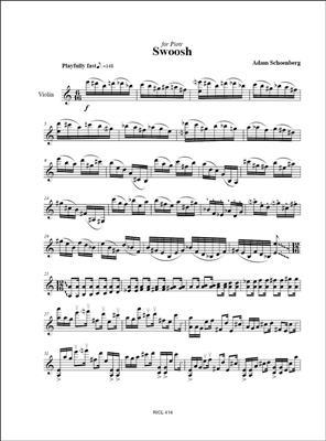 Adam Schoenberg: Single Solì (2009): Violin & Cello