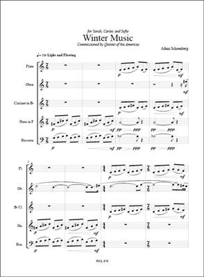 Adam Schoenberg: Winter Music: Wind Ensemble