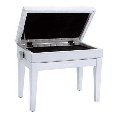 Roland: RPB400 Piano Bench Satin White Vinyl Seat
