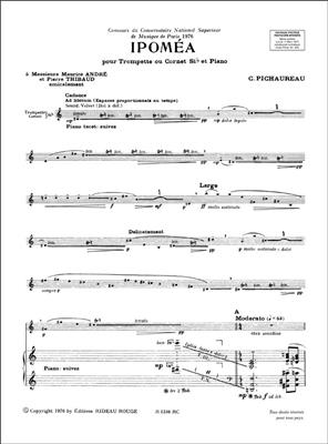 Claude Pichaureau: Ipomea Trompette-Piano : Trumpet