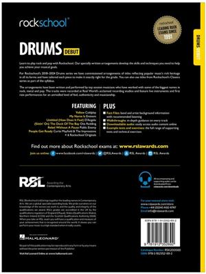 Rockschool Drums Debut 2018+: Drums and Percussion