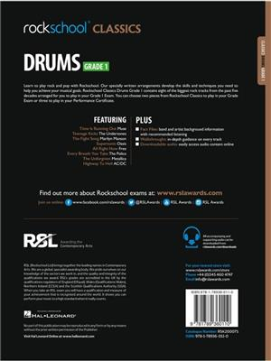Rockschool Classics Drums Grade 1 2018+: Drums and Percussion
