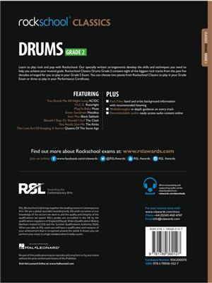 Rockschool Classics Drums Grade 2 2018+: Drums and Percussion