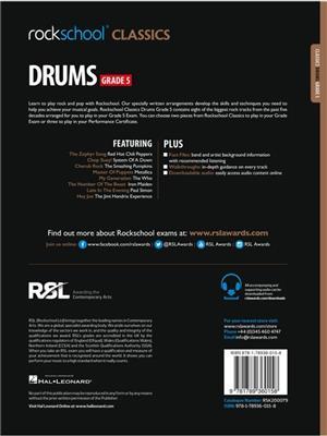Rockschool Classics Drums Grade 5 2018+: Drums and Percussion