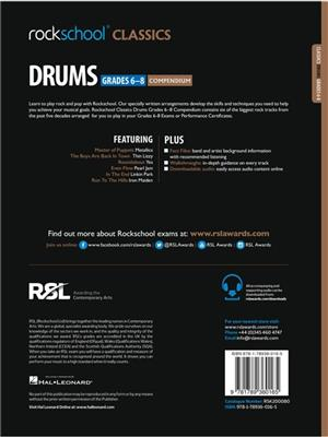 Rockschool Classics Drums Grades 6-8 Compendium: Drums and Percussion