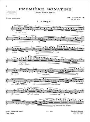 Charles Koechlin: Trois Sonatines Pour Flute: Flute