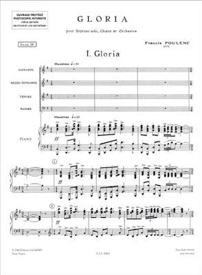Francis Poulenc: Gloria: SATB