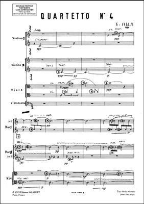 Giacinto Scelsi: Quartetto N 4 2 Violons Alto Et Vlc Partition: String Ensemble Full Score