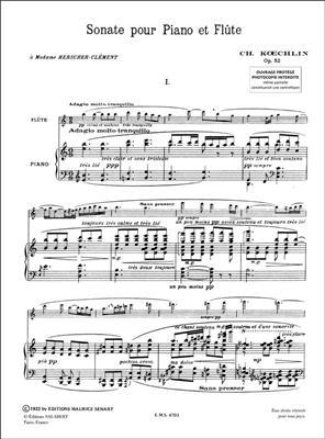 Charles Koechlin: Sonate Op.52: Flute