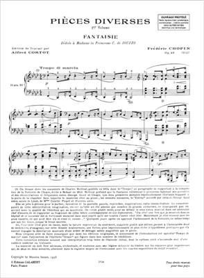 Frédéric Chopin: Pièces Diverses 1re série: Piano