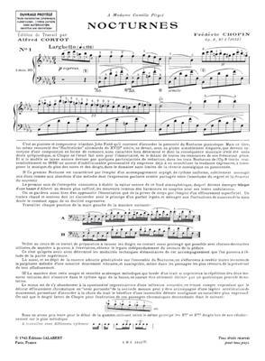 Frédéric Chopin: Nocturnes Op. 9, 15, 27, 32 - 1er volume: Piano