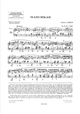 Frédéric Chopin: Mazurkas Op 59, 63, 67, 68 - 3eme volume: Piano
