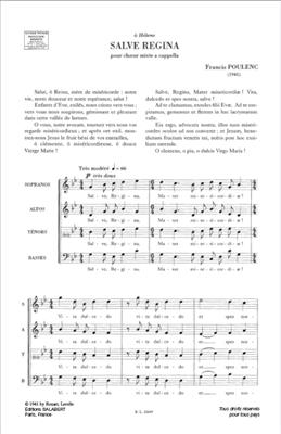 Francis Poulenc: Salve Regina: SATB