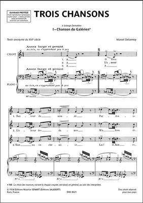 Marcel Delannoy: Trois Chansons: Vocal