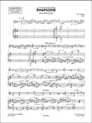 Éric Tanguy: Rhapsodie: Viola