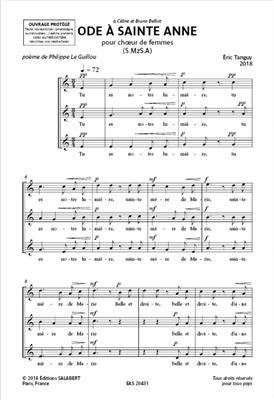 Eric Tanguy: Ode à sainte Anne: Women's Choir