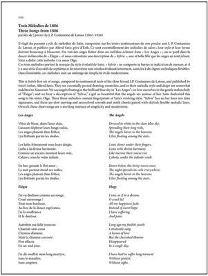 Erik Satie: 22 Mélodies - 22 Songs
