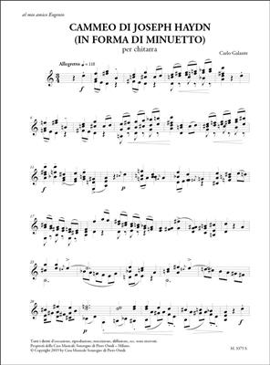Carlo Galante: Cammeo Di Joseph Haydn: Guitar