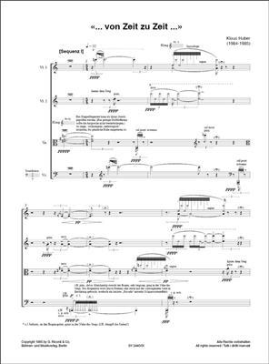 Klaus Huber: «... von Zeit zu Zeit ...»: String Quartet