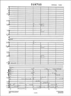 Emmanuel Nunes: Duktus: Ensemble