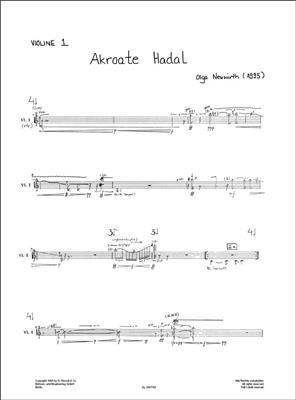 Olga Neuwirth: Akroate Hadal: String Quartet