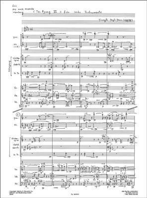 Younghi Pagh-Paan: Ta Ryong 6: Ensemble