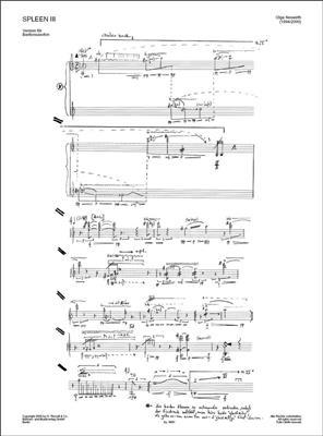 Olga Neuwirth: Spleen III: Baritone Saxophone