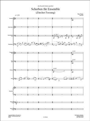 Enno Poppe: Scherben (Züricher Version): Chamber Ensemble