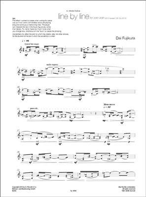 Dai Fujikura: Line by line: Violin
