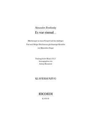 Alexander Zemlinsky: Es war einmal…: Arr. (Antony Beaumont): Vocal & Piano