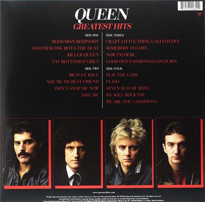 Queen Greatest Hits Vinyl Record