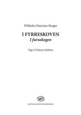 Wilhelm Peterson-Berger: Eight Songs Op. 11: Mixed Choir
