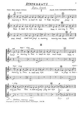 Pelle Gudmundsen-Holmgreen: Konstateringer For Bornekor: 2-Part Choir