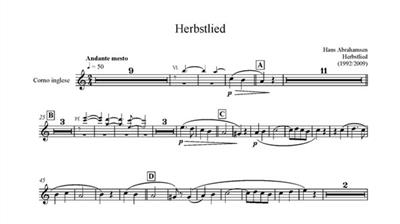 Hans Abrahamsen: Herbstlied - Version 2009: Chamber Ensemble