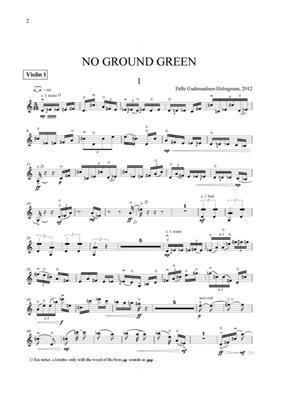 Pelle Gudmundsen-Holmgreen: No Ground Green: Mixed Choir