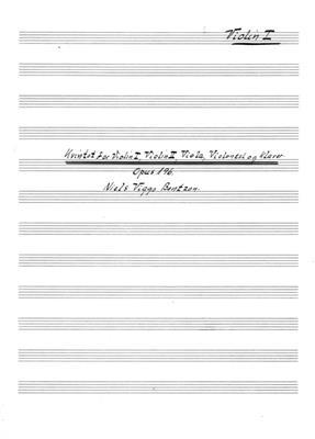 Niels Viggo Bentzon: Kvintet For Violin I, Violin II, Viola, Violoncel: String Ensemble