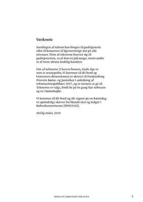 Phillip Faber: Ni Salmer For Lige Stemmer: Organ