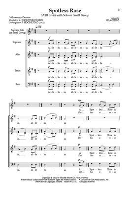 Ola Gjeilo: Spotless Rose: Mixed Choir